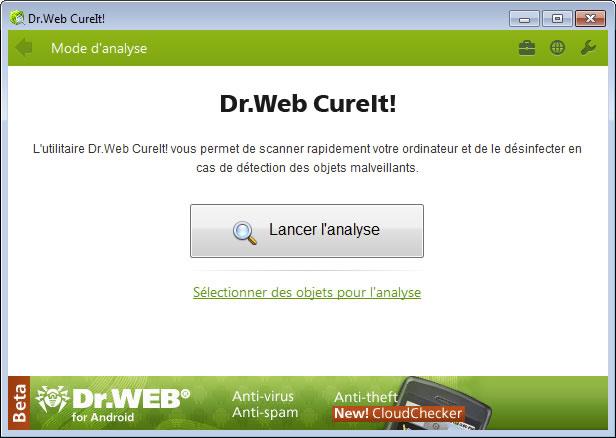 Top 5 des logiciels anti-malwares gratuits Dr.Web CureIt!