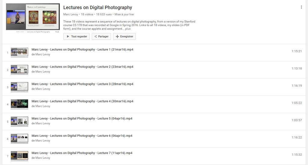 Cours de photographie gratuit