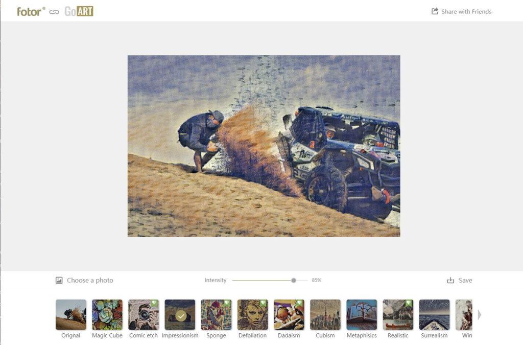 Transformer vos photos en œuvres d'art avec GoArt