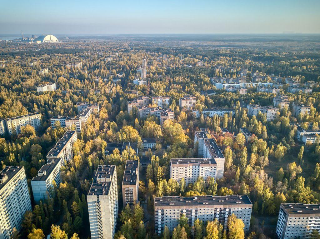 Vue aérienne de Pripyat