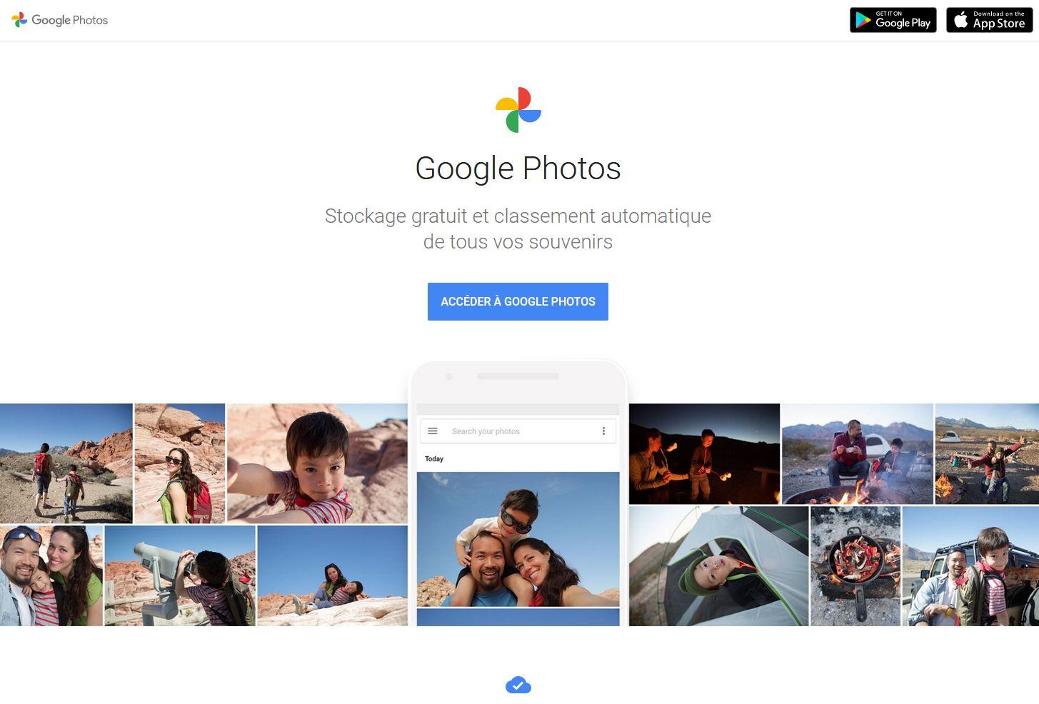 récupérer ses photos sur Google Photos
