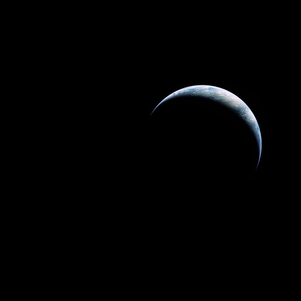 la Terre en entier depuis l'espace